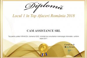 Cam Assistance - locul 1 in top afaceri Romania 2018 -Vrancea