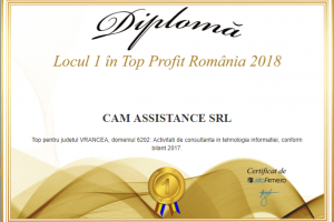 Cam Assistance - locul 1 in top profit 2018 -Vrancea